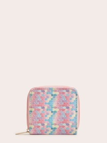 Glitter Zip Around Purse