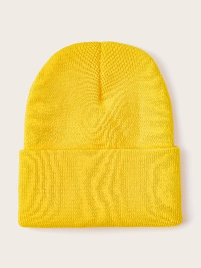 Solid Color Knit Hat