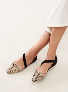 Snake Print Single Band Dorsay Flats