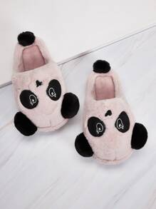 Round Toe Cartoon Fluffy Slippers