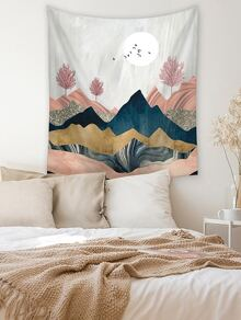 Mountain Landscape Print Tapestry