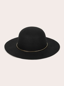 Metal Ball Band Decor Floppy Hat
