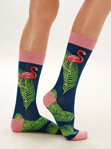 1pair Tropical Graphic Socks