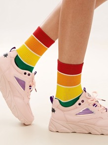 Rainbow Striped Socks 1pair
