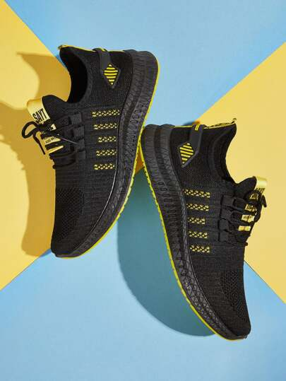 Guys Lace-up Front Knit Trainers