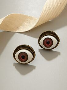 1pair Eye Stud Earrings