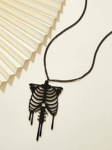1pc Skull Charm Necklace