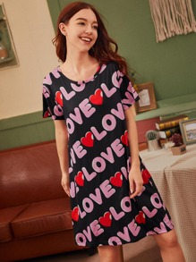 Letter Graphic Night Dress