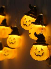 10pcs Pumpkin Hat Shaped Bulb String Light
