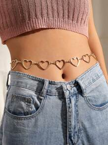Heart Decor Waist Chain 1pc