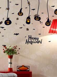 Halloween Pumpkin Print Wall Sticker