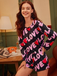 Letter Graphic PJ Set