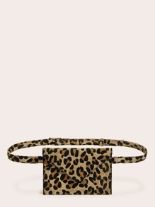 Envelope Design Leopard Fanny Pack