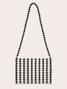 Hollow Out Beaded Tote Bag