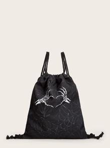 Halloween Cobweb Graphic Backpack