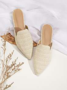 Point Toe Loafers Mules