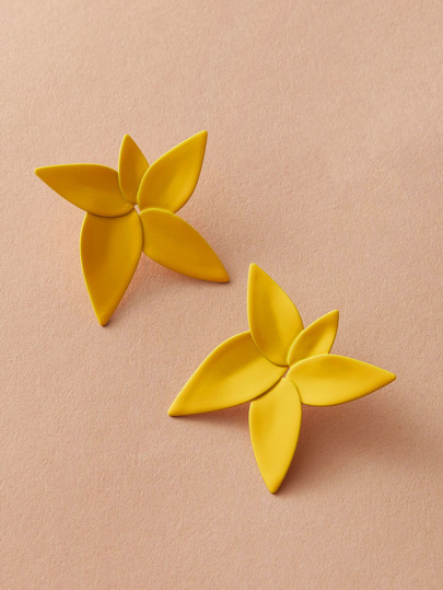 1pair Flower Stud Earrings