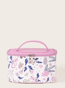 Plant Pattern Makeup Bag