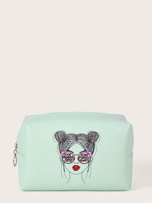 Figure Graphic Makeup Bag