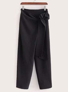 Tie Side Straight Leg Pants