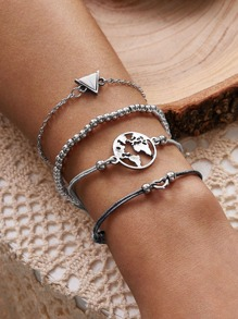 4pcs Geometric Decor Bracelet