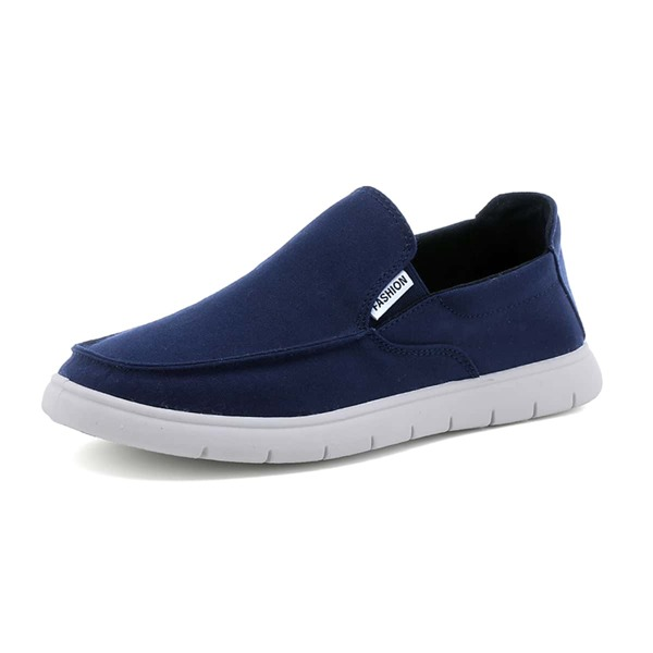 Men Slip On Loafers, Navy