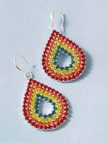 1pair Rhinestone Drop Earrings