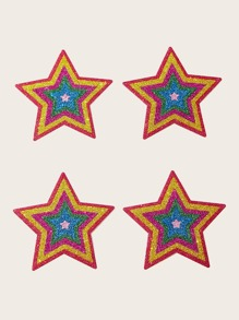 2pairs Sparkly Glitter Star Shaped Nipple Cover