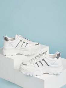 Lace Up Front Chunky Sneakers