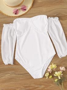 Long Sleeve One Piece Swimwear