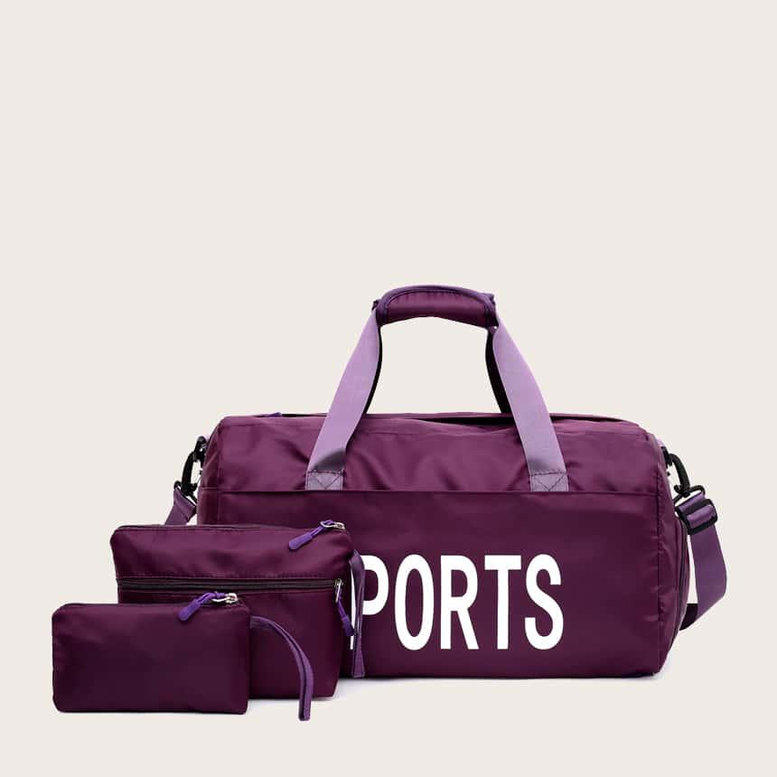 фиолетовый Текст Повседневный Набор сумок