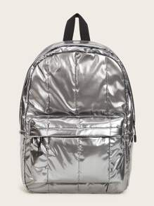 Metallic Pocket Front Backpack