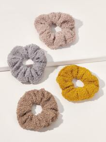 4pcs Fluffy Hair Tie