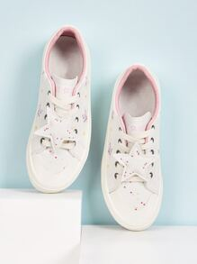 Star Print Lace-up Sneakers