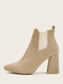 Point Toe Chunky Chelsea Boots
