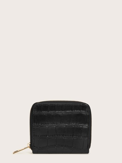 PU Zip Around Purse