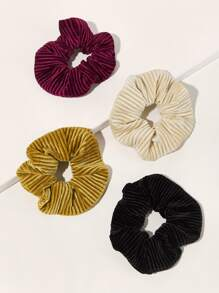4pcs Simple Scrunchie