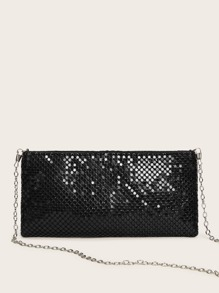 Glitter Chain Clutch Bag