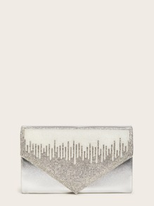 Rhinestone Decor Clutch Bag