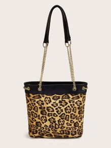 Leopard Chain Tote Bag