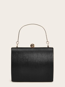 Clip Top Chain Satchel Bag