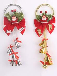 1pc Santa Claus & Bell Hanging Decoration