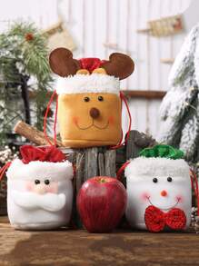 1pc Christmas Nonwoven Cloth Candy Bag