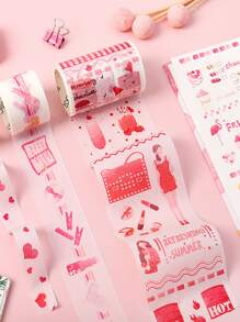 6rolls Cute Mixed Pattern Tape Sticker
