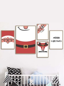1pc Santa Claus Wall Print Without Frame