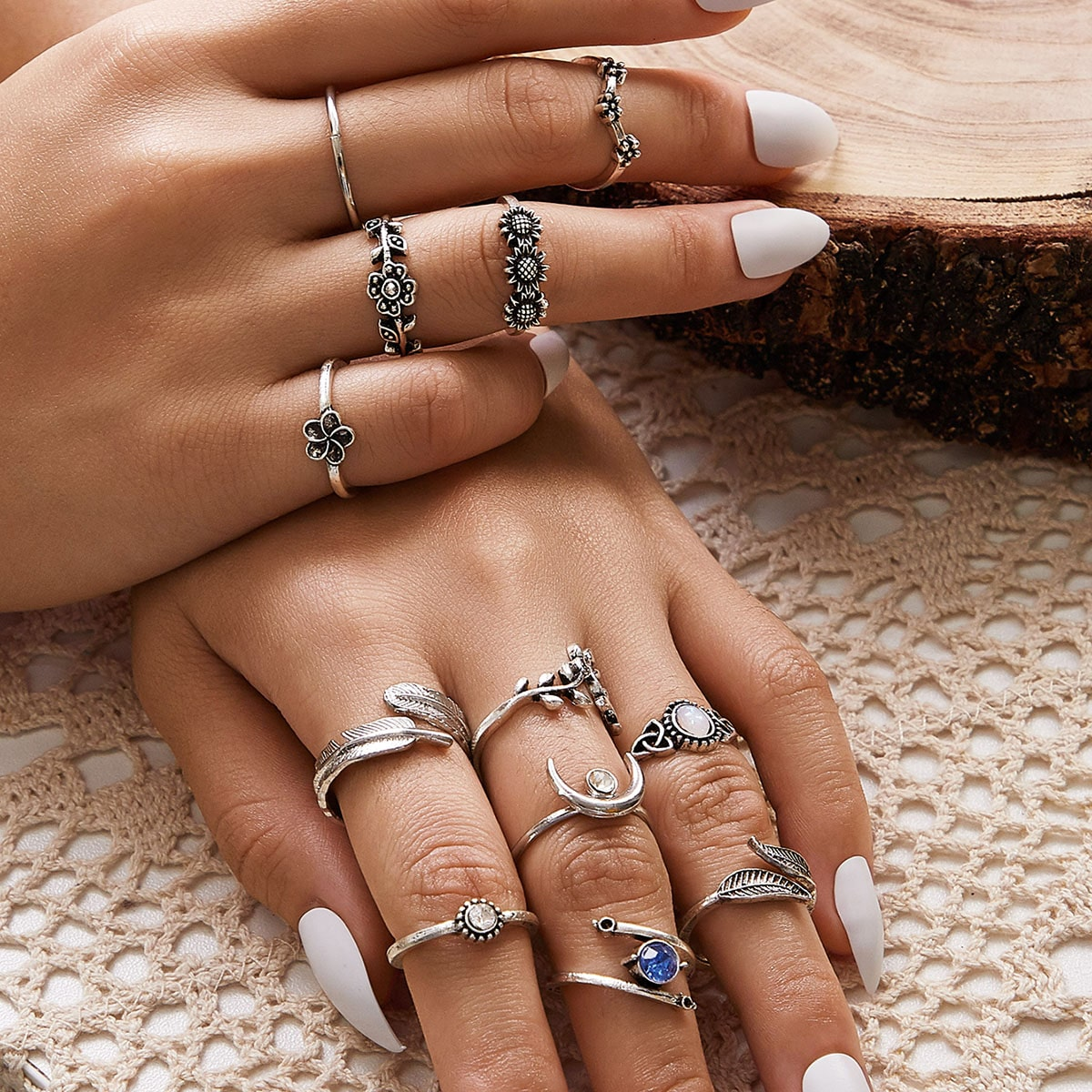 12pcs Ditsy Floral Ring Pack