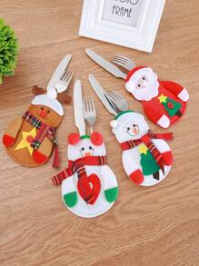 1pc Christmas Decoration Cutlery Holder