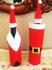 1pc Christmas Bottle Cover