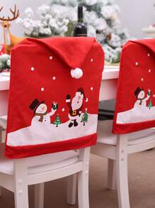 1pc Christmas Decoration Chair Back Cover