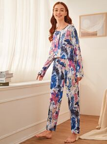 Graffiti Print PJ Set